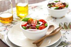 Tomato,Pea and Bean salad Royalty Free Stock Photography