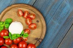 Tomato peace mozz basil Stock Photo