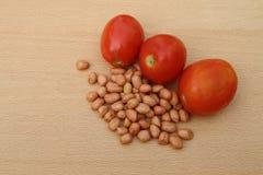 Tomato and peanut Stock Image