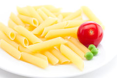 Tomato, peas and pasta Royalty Free Stock Image