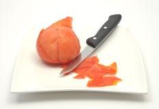 Tomato peeling Royalty Free Stock Images