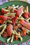 Tomato penne pasta royalty free stock photography