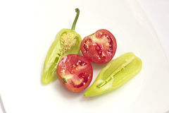 Tomato and pepper Stock Photo