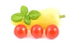 Tomato and pepper Stock Images