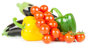 Tomato,  pepper and  eggplant Stock Images