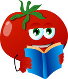 Tomato pepper reading Royalty Free Stock Photos