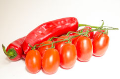 Tomato and pepper Royalty Free Stock Images