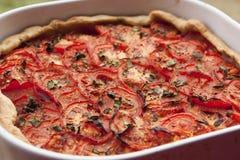 Tomato pie royalty free stock photography