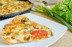 Tomato pie Royalty Free Stock Images