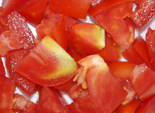 TOMATO IN PIECES Royalty Free Stock Image