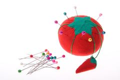 Tomato Pin Cushion Royalty Free Stock Photography