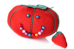 Tomato pin cushion Stock Photography