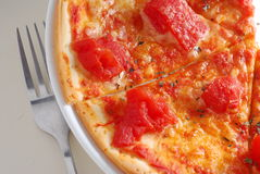Tomato pizza Royalty Free Stock Images
