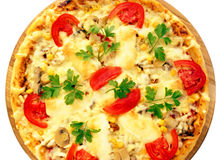 Tomato pizza Royalty Free Stock Photo