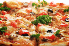 Tomato pizza Stock Images