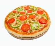 Tomato pizza with pepper. Stock Photo