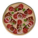 Tomato pizza top Stock Photo