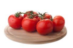 Tomato on plate Royalty Free Stock Photo