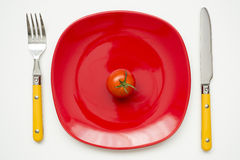 Tomato plate Royalty Free Stock Images