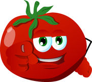 Tomato pointing at viewer Stock Images