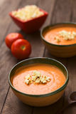Tomato and Potato Cream Soup Royalty Free Stock Photography