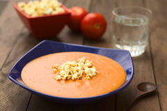 Tomato and Potato Cream Soup Royalty Free Stock Photos