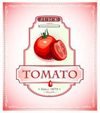 Tomato product label Royalty Free Stock Photo
