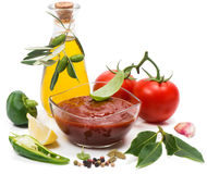 Tomato puree Royalty Free Stock Image