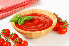 Tomato puree Royalty Free Stock Images