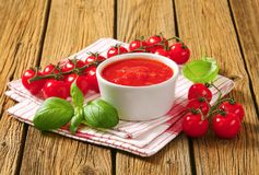 Tomato puree Royalty Free Stock Image