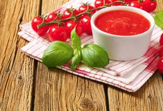 Tomato puree Royalty Free Stock Photos