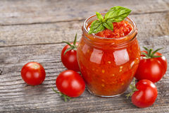Tomato puree Stock Photo
