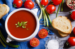 Tomato puree the soup Royalty Free Stock Image