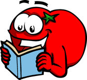 Tomato reading book Royalty Free Stock Image