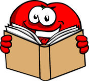 Tomato reading book Stock Images