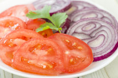 Tomato and Red Onion Salad Royalty Free Stock Images