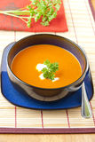 Tomato and  red pepper soup Royalty Free Stock Images