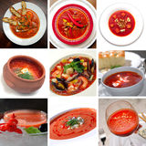 Tomato red soup stock photography