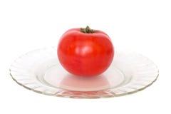 Tomato. Red tomato on white background Stock Image