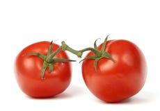 Tomato. Red tomato on a white background. Horizontal position Stock Photos