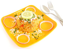 Tomato Rice. Rice pilaf made from tomatoes and onions Stock Photos
