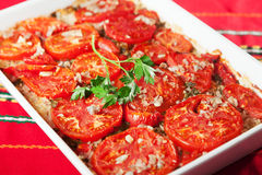 Tomato and rice casserole Stock Photos