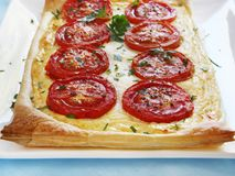 Tomato and Ricotta Tart Royalty Free Stock Photo