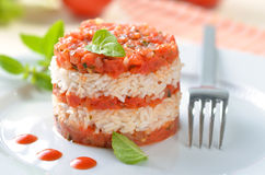Tomato risotto Stock Images