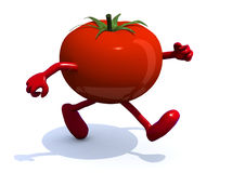 Tomato that runs Stock Images