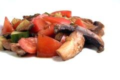 Tomato salad. Italian tomato salad with creek cucumber and balsamic vinegar Royalty Free Stock Photos