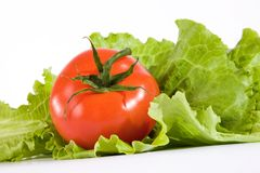 Tomato and salad Stock Photo