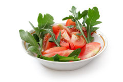 Tomato salad with arugula Stock Image