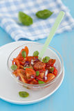 Tomato salad with basil Stock Images