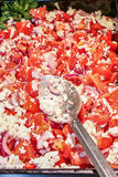 Tomato salad with cheese Royalty Free Stock Photography